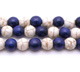 Howlite White & Blue Round 6mm