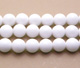 White Jade Round Bead 10mm