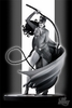 DC Direct Batman Black & White Steve Rude Catwoman Statue