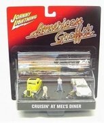 American Graffiti Johnny Lightning Cruisin' at Mel's Diner Diorama
