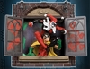 DC Direct Gotham City Stories Harley Quinn vs Robin Display