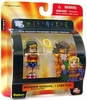 DC Minimates Battle Damaged Wonder Woman & Cheetah Figure Set