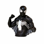 Marvel Comics Black Costume Spider-Man Bust Coin Bank