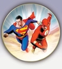 DC Direct Alex Ross Superman vs Flash Collector Plate