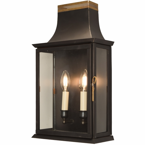 Patrice Colonial Copper Lantern Wall Sconce