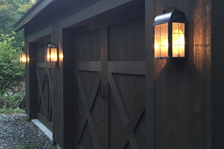 New Haven Lantern Wall Sconce Installation - Image #1