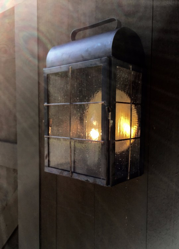 New Haven Lantern Wall Sconce Installation - Image #5