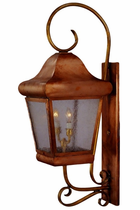 Belmont Copper Lantern Outdoor Lighting Collection