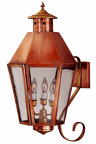 Franklin Copper Lantern Wall Light with Bracket