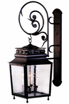 Jackson Wall Mount Lantern with Bracket and Scroll