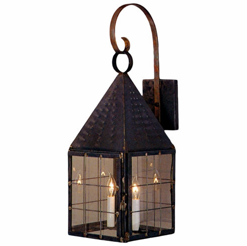 Colonial New England Lantern Wall Light with Bracket
