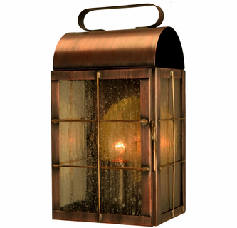 New Haven Rustic Wall Sconce Outdoor Light Copper Lantern