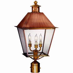 Carolina Colonial Post Light Metal Top Copper Lantern