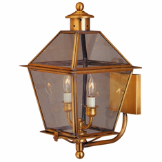Carolina Colonial Copper Lantern Wall Light with Bracket