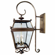 Beacon Indoor Outdoor Wall Light with Bracket and Scroll