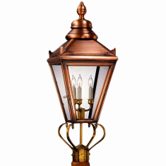 Hampton Post Mount Copper Lantern