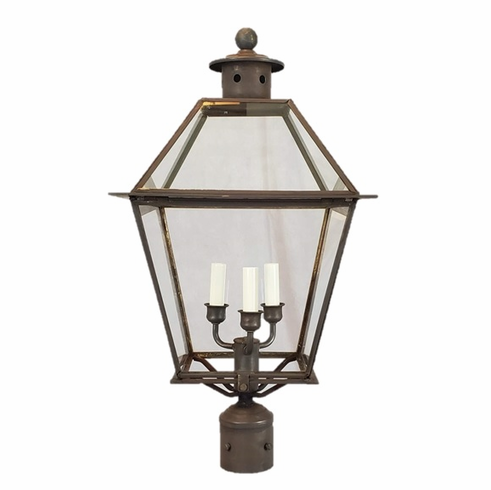 Carolina Colonial Post Light Copper Lantern