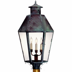 Franklin Post Light Copper Lantern