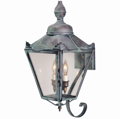 Hampton Wall Mount Copper Lantern with Bracket
