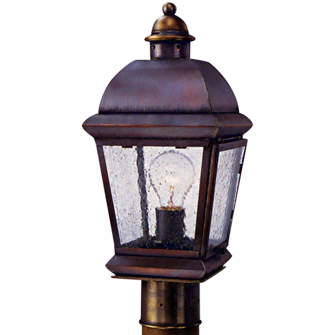 Milford Post Light Outdoor Copper Lantern