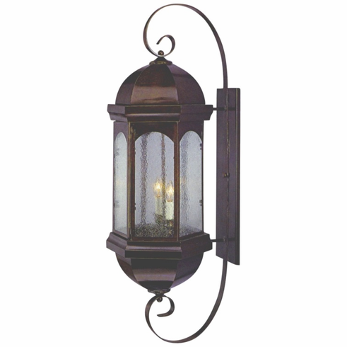 Landon Sr. Wall Mount Copper Lantern with Bracket