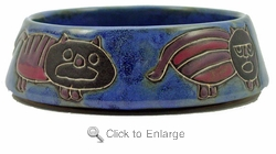 Mara Stoneware 16oz Cat Dishes - Blue