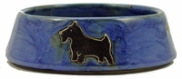 Mara Stoneware 16oz Dog Dishes - Blue