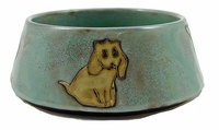 Mara Stoneware 24oz Dog Dishes - Green