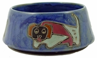 Mara Stoneware 48oz Dog Dishes - Blue