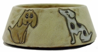 Mara Stoneware 24oz Dog Dishes - Brown