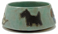 Mara Stoneware 48oz Dog Dishes - Green