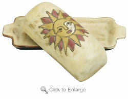 Mara Stoneware Butter Dish with Lid - Suns