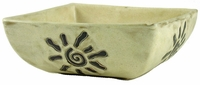 Mara Stoneware 54oz Medium Square Bowl - Sunbursts
