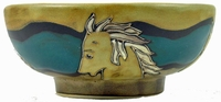 Mara Stoneware 24oz Serving Bowl - Horses