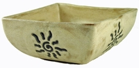 Mara Stoneware 120oz Large Square Bowl - Sunbursts