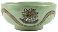 Mara Stoneware 72oz Serving Bowl - Sunflowers
