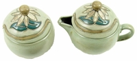Mara Stoneware Sugar and Creamer - Sunflower