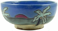 Mara Stoneware 72oz Serving Bowl - Palm Trees/Beach