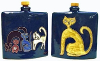 Mara Stoneware 24oz Square Decanter - Cats