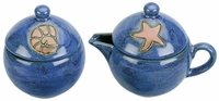 Mara Stoneware Sugar and Creamer - Seashell