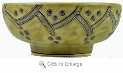 Mara Stoneware 24oz Serving Bowl - Grapevines