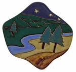 "Mara Stoneware 12"" Dinner Plate - Trees"