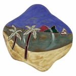"Mara Stoneware 12"" Dinner Plate - Sailboat"