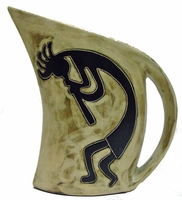 Mara Stoneware 32oz  Curved Pitcher - Kokopelli Traditional