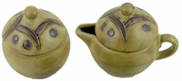 Mara Stoneware Sugar and Creamer - Grapevines