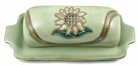 Mara Stoneware Butter Dish with Lid - Sunflower