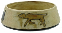 Mara Stoneware 16oz Dog Dishes - Brown-out of stock until approximately early June