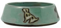 Mara Stoneware 16oz Dog Dishes - Green
