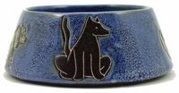 Mara Stoneware 24oz Dog Dishes - Blue
