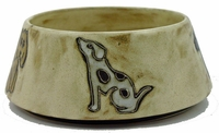 Mara Stoneware 48oz Dog Dishes - Brown-Out of Stock Until 10-28-2020